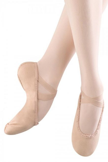 Canvas split sole ballet shoe